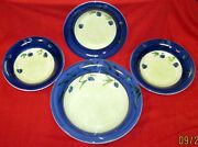 Ceramica Varm Jarm Pasta Set Large Serving And 3 Indiv. Bowls Italy Berry Berries