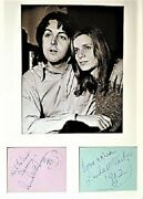 Beatles Paul And Linda Mccartney Signatures With Smiley Face And Heart 2 Loa