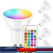 Gu10 5w Led Bulbs Light Rgb 16colour Changing Spotlight Lamp With Remote Control