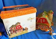 Dept Department 56 Snow Village Halloween Haunted Barn Tested Works Perfectly Ex