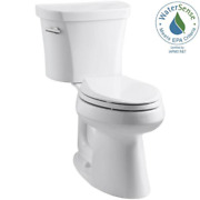Kohler Elongated Toilet 14 In. 2-piece 1.28 Gpf Single Flush Seat Not Included