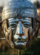 18ga Brass Medieval Roman Helmet Ribchester Sport And Ceremony With Face