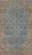 Antique Floral Ardakan Oriental Area Rug Overdyed Evenly Low Pile Handmade 6and039x9and039