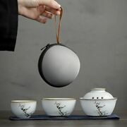 High End Ceramics Travel Kung Fu Tea Set Portable One Pot And Two Cups Drinkware