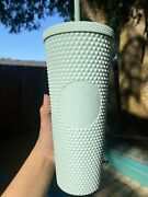 New Starbucks Cold Cup Tumbler 24 Oz Studded Bling Mint Green Thailand