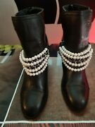 Pearl Boots 7.5 Black Pre-owned Good Condition