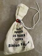Binion Hoard One Pound Sealed Bag Of Silver Coins In Original Binion Bag