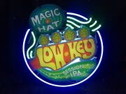 Magic Hat - Low Key - Session Ips - 3d Neon Beer Sign Bar Light 24 By 24