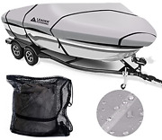 Leader Accessories Solution Dyed Waterproof Trailerable Runabout Boat Cover Grey