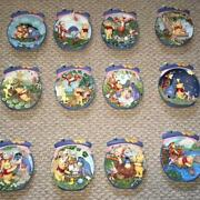 14 Winnie The Pooh 3d Collectible Plates From Bradford Exchange