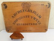 Genuine Antique Wooden Ouija Board And Planchette 1898 - 1901 Isaac Fuld And Brother