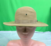 Rare Vintage Official Boy Scouts Of America Felt Hat Size 7 Leather Band