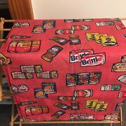 Vintage Wacky Packages Novelty Fabric Large Piece 5 Continuous Yards 1970s