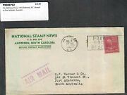 1950 Prexie Cover 25c Mckinley Anderson Sc Airmail National Stamp News Adv