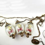 3 Budweiser King Of Beers Chain Swag Hanging Electric Bubble Lamps