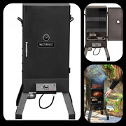 Analog Electric Smoker In Black Thermostat Temperature Control Cool Touch Handle