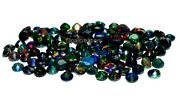 Natural Ethiopian Black Opal Faceted 9x9 Mm Size Round Fire Opal Loose Gemstone