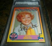 Betty White Golden Girls Signed 1991 Starline Hollywood Card Autograph Psa/dna