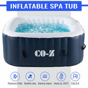 5'x5' Inflatable Hot Tub Portable Jacuzzi W/ 120 Jets And Air Pump Ideal For 4 Nst