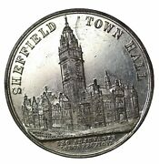 1897 Queen Victoria Visit Town Hall Opening Medal W.m. Sheffield Goldsmiths Co.
