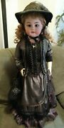 Antique Simon And Halbig Germany Large 30 Doll Leather Jointed Open Mouth Teeth