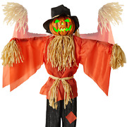 Animatronic Scarecrow Halloween Decor Sound And Motion Activated W/ Led Eyes