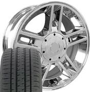 Oew Fits 20x9 Wheel Tire Ford Harley Chrome Rims W/tires 3410