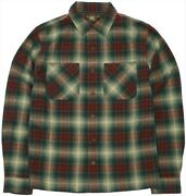 Rrl Tartan Camping Shirt Check Green And Red Men's Size M Used