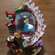 Alice In Wonderland Snowball With Music Box Rare Vintage Operation Checked