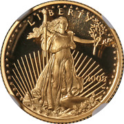 2005-w Gold American Eagle 5 Ngc Pf70 Ultra Cameo Brown Label - Stock
