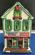 New Coca-cola Coke Town Square Collection Mcmahons General Store Holiday Village