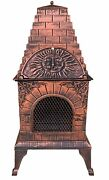 Pizza Oven Barbecue Grill Fireplace Stove Stainless Steel Screen Door Ash Draw