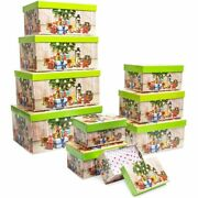 Christmas Nesting Gift Boxes With Lids 10 Sizes 10 Pack