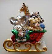 Jay Strongwater Babyand039s First Christmas Glass Ornament Crystals New