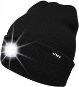 Atnke Led Lighted Beanie Cap Usb Rechargeable Running Taille Unique Noir