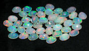 Ethiopian Opal Oval Faceted 9x7 Mm Natural Ethiopian Fire Opal Loose Gemstone