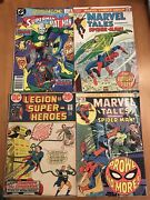 Vintage Comic Book Lot 4 Different Collectible Old Comic Books Marvel Dc