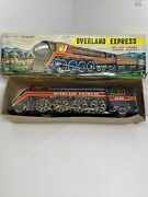 Vintage Battery Operated Tin Toy Overland Express Railway Train 3140 For Parts