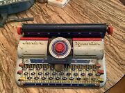 Vintage Tin Metal Toy Junior Typewriter 1950s By Marx Excellent Condition