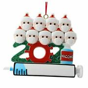 2021 Christmas Ornaments, Creative Personalized Vaccinated Family 9tou