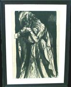 Lebrun Rico Lebrun Grieving Woman And03957 Ink/brush Wash On Paper