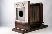 Antique Agfa Ansco 8x10 Large Format Studio Camera With 4x5 Reducing Back V12