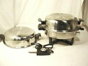 Towncraft Electric Skillet Liquid Core 2 High Dome Roaster Lids 17450 Fry Pan