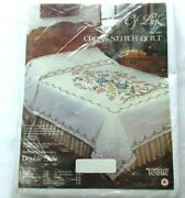 Tobin Tree Of Life Cross Stitch Quilt Kit Number 1516 Double Size 90x103