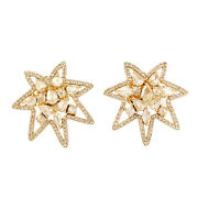 Natural Prong Set Diamond Stud Earrings Solid 18k Yellow Gold Fine Jewelry Gift