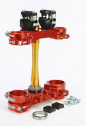 Xtrig Triple Clamp With Rocs Motorcycle Hand Controls Red 501330101101 77-0086