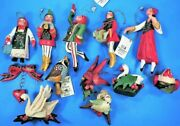 House Of Hatten 12 Days Of Christmas Ornaments Complete Set / Mint