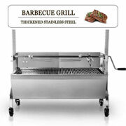 Large Grill Charcoal Spit Roaster Rotisserie Pig Lamb Roast Bbq Chicken W/ Motor