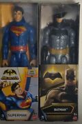 Superman And Batman Unlimited Dc And Mattel Highly Poseable Action Figures 12 2015