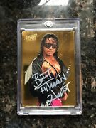 Autographed Action Packed Wwf 24 Kt. Gold Bret Hart Card